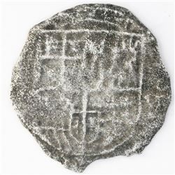 Potosi, Bolivia, cob 4 reales, (16)20(T), quadrants of cross transposed, Grade-2 quality but Grade 4