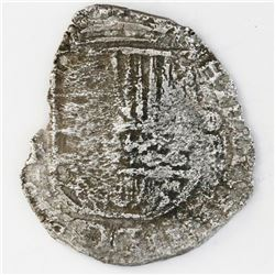 Potosi, Bolivia, cob 4 reales, 1620T, Grade-3 quality but Grade 4 in database, certificate missing.