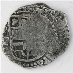 Potosi, Bolivia, cob 2 reales, Philip III, assayer T, Grade 2, certificate missing.
