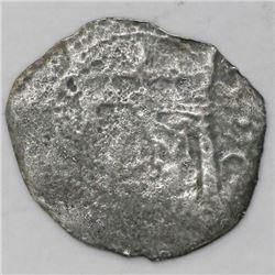 """Lima, Peru, cob 2 reales, (1659)V, """"Star of Lima"""" type, rare."""