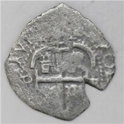 Potosi, Bolivia, cob 2 reales, 1664E.