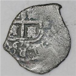 Potosi, Bolivia, cob 1 real, 1655E.