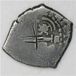 Potosi, Bolivia, cob 1 real, 1658E.