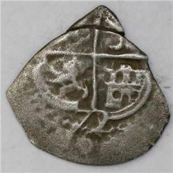 Potosi, Bolivia, cob 1 real, 1672/1E.