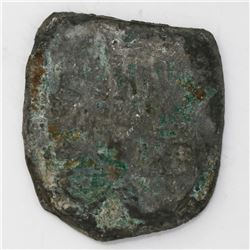 """Mexico City, Mexico, cob 8 reales """"greenie"""" (uncleaned and encrusted, as found), Philip V, assayers"""