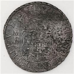 Mexico City, Mexico, pillar 8 reales, Philip V, 1740/39MF.
