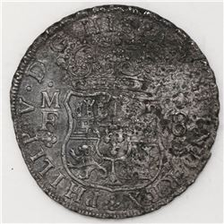 Mexico City, Mexico, pillar 8 reales, Philip V, 1740/39MF.