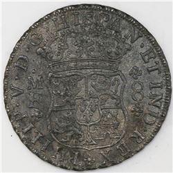 Mexico City, Mexico, pillar 8 reales, Philip V, 1740MF, ex-Sotheby's.