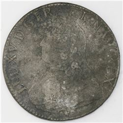 France (Amiens mint), ecu, Louis XV, 1728-X.