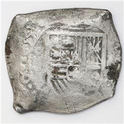 Mexico City, Mexico, cob 8 reales, 1657(P).