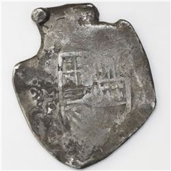 Mexico City, Mexico, cob 8 reales, Philip IV, assayer P (ca. 1660s).