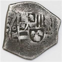 Mexico City, Mexico, cob 2 reales, 1708J, rare.