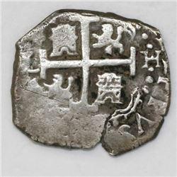 Lima, Peru, cob 1 real, 1703H.