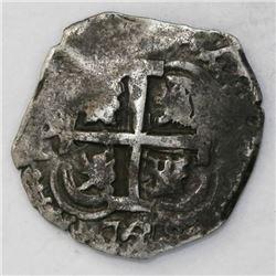 Potosi, Bolivia, cob 2 reales, 1728M, ex-Puno hoard.