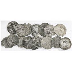 Large lot of sixteen Spanish 1/2R, Ferdinand-Isabel, various mints.