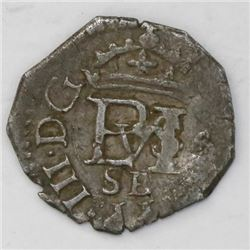 Seville, Spain, cob 1/2 real, 1610B.