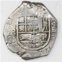 Seville, Spain, cob 8 reales, Philip IV, assayer R.