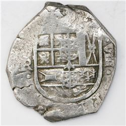 Seville, Spain, cob 8 reales, Philip IV, assayer R.