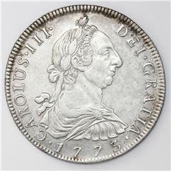 Potosi, Bolivia, bust 8 reales, Charles III, 1773JR.