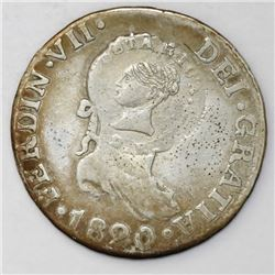 Costa Rica, 2 reales, Liberty head / ceiba tree double countermark (1845, Type III) on a Seville, Sp