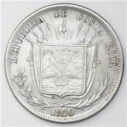 Costa Rica, 50 centavos, 1890/80GW.