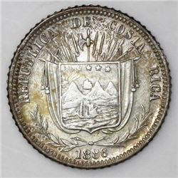 Costa Rica, 10 centavos, 1886GW, ex-Mayer.