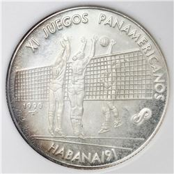 Cuba, proof piefort 10 pesos, 1990+1991, Pan-American Games Havana / Volleyball, NGC PF 65 Cameo.