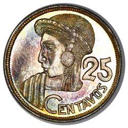Guatemala, 25 centavos, 1950, NGC MS 66.