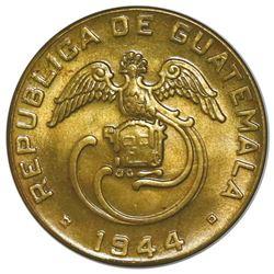 Guatemala, brass 2 centavos, 1944, NGC MS 64.
