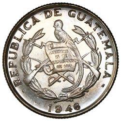 Guatemala, 1/4 quetzal, 1946, NGC MS 65.