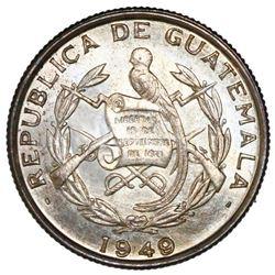 Guatemala, 1/4 quetzal, 1949, NGC MS 65.