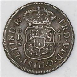Mexico City, Mexico, pillar 1 real, Ferdinand VI, 1747M.