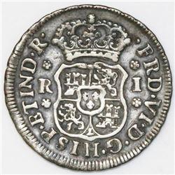 Mexico City, Mexico, pillar 1 real, Ferdinand VI, 1750M.