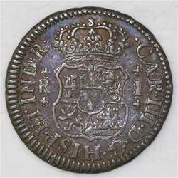 Mexico City, Mexico, pillar 1 real, Charles III, 1769M.