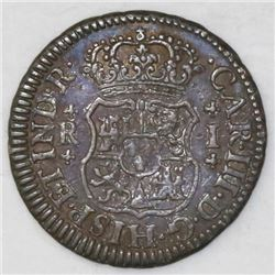 Mexico City, Mexico, pillar 1 real, Charles III, 1769M.