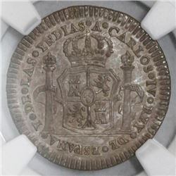 Mexico City, Mexico, silver 1 real proclamation medal, 1789, NGC MS 62.