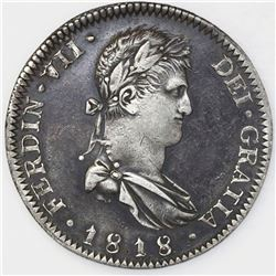 Guadalajara, Mexico, bust 8 reales, Ferdinand VII, 1818FS.