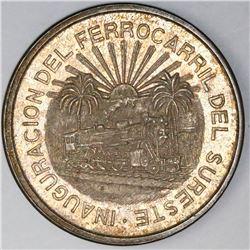 Mexico City, Mexico, 5 pesos, 1950, Southern Railroad, NGC MS 63.