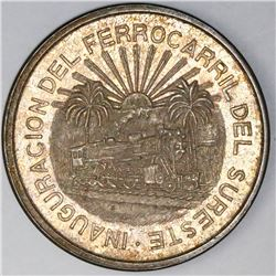 Mexico City, Mexico, 5 pesos, 1950, Southern Railroad, NGC MS 63.