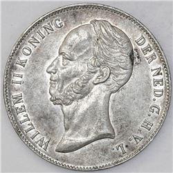 Netherlands (Kingdom), 2-1/2 gulden, 1847, Willem II.