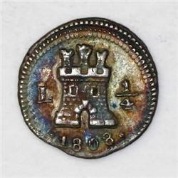 Lima, Peru, 1/4 real, 1808.