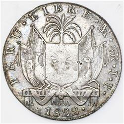 """Lima, Peru, 8 reales, 1822JP, """"Peru Libre."""""""