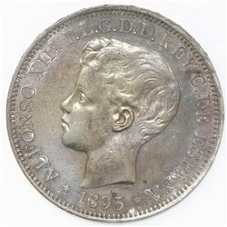 Puerto Rico (under Spain), 1 peso, Alfonso XIII, 1895PG-V.