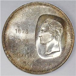 Venezuela, 10 bolivares, 1973, Bolivar Centennial, NGC MS 65.