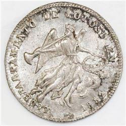 Potosi, Bolivia, 1 sol-sized silver proclamation medal, 1852, Potosi, ex-Cotoca.