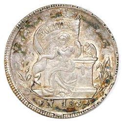 Potosi, Bolivia, 1 sol-sized silver proclamation medal, 1854, Belzu, NGC MS 63, ex-Reinhart, ex-Coto