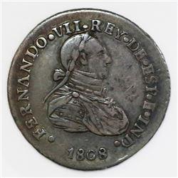 El Salvador, silver 1 real proclamation medal, Ferdinand VII, 1808.