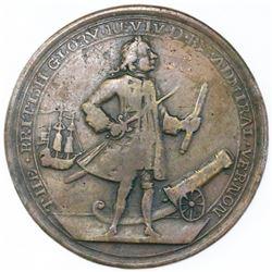 Great Britain, copper-alloy medal, Admiral Vernon, 1739, Porto Bello.