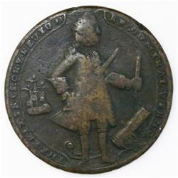 Great Britain, small copper-alloy medal, Admiral Vernon, 1739, Porto Bello.