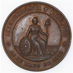 Asuncion, Paraguay, bronze medal, 1894, Paraguayan Independence.